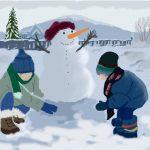 Пташкин Иван 11 лет Снеговик и ребята